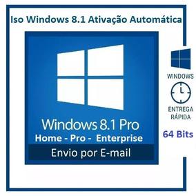 Iso Windows 8.1 64 Bits Ativação Automática - Envio Digital