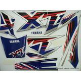 Kit Faixas Adesivos Yamaha Xt 600 Ano 98 - Cor Branca E Azul