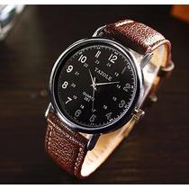 Relógio Japonês Importado Sinobi Em Couro Masculino Barato