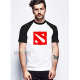Camiseta Dota 2 Gamer Pc Rpg Raglan - A Melhor Do Mercado !