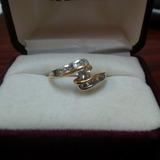 Anillo Compromiso Diamante Oro 14k Nuevo Montura 10 Piedras