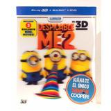 Mi Villano Favorito 2 (blu-ray 3d+blu-ray+dvd) Minions Nuevo
