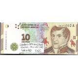 Lote 100 Billetes Argentina $10 Serie A S/circular Palermo