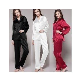 Pijama Camisa Calça Cetim Conjunto Feminino