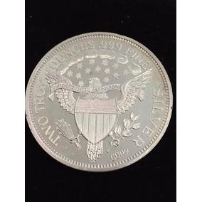 Medalla Usa Liberty Dos Onzas Plata Pura Envió Gratis