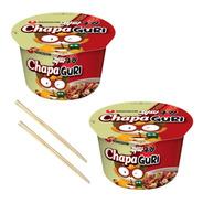 Kit 02 Lamen Coreano Chapaguri Chapaghetti Neoguri + Hashi