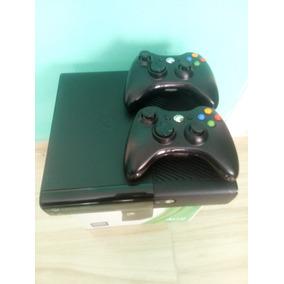 Xbox 360 500g Destravado Rgh/jtag+lt3.0 2 Controles 10 Jogos