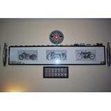 Quadro Motos Clássicas Antigas Harley Indian Garage Bar