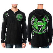 Buzo Hoodie Affliction Green River