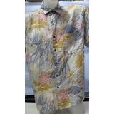 Camisa Imp Seda Fina Robert Stock Multicolor Peixe G 111-281