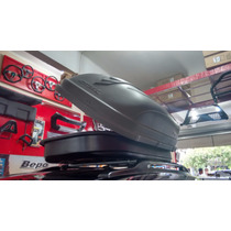 Maleiro Teto Motobul 510 Litros + Rack Belluno Prata Spin