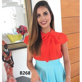 Blusa Feminina Blusinha Gravatinha Laço Moda Evangélica