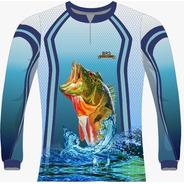Camiseta Pesca Azul Tucunaré 2 Dry Fit Caçadores Brs