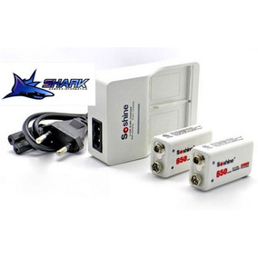 Carregador De Bateria 9v 2 Bateria 650mah Ultra Qualidade