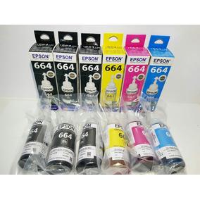 6 Tintas Epson Original L220 L375 L355 L395 L365 L455 L380