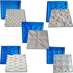 Kit 5b Formas De Plástico Com Borracha Gesso Digitalartrio