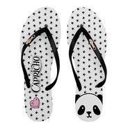Chinelo Feminino Menina Capricho Preto Panda