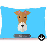 Almofada Fox Terrier Pet Cachorro Decorativa C/enchimento
