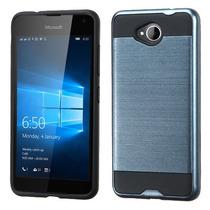 Funda Protector Mixto Nokia Lumia 650 Azul Metalico
