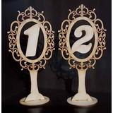 Numero Mesa Fibrofacil Casamientos Fiestas Eventos 20cm Alto