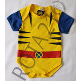 Body Bebê Wolverine Super Heróis Fantasia X-men