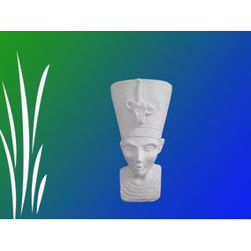 Figura Egipcia Nefertiti Chica De Yeso Para Pintar