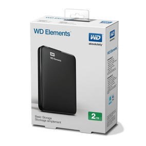 Disco Duro Externo Wd Elements 2tb Passport Ultra Usb 3.0