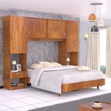 Combo Dormitorio Cama Closet Y Mesas De Noche Maderkit 01164