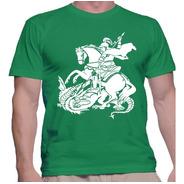 Camisa Camiseta Imagem De Santo São Jorgecatólica Masc E Fem