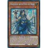 Yugioh Priestess With Eyes Of Blue Secret 1st Lckc-en016