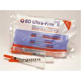 Seringa Para Insulina Bd 8x0,33mm Caixa Com 100 Unidades