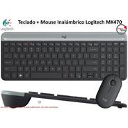 Teclado + Mouse Inalambrico Logitech Mk470 Slim Minimalista