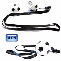 Memoria Usb 4 Gb Balón Soccer C/ Cordón Mayoreo Promocional