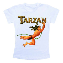 Camiseta Infantil Personalizada - Tarzan Desenho Animado