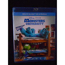 Monsters University Bluray Disney Pixar Nuevo Y Sellado
