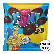 Galletitas Fun Choco Donas Los Simpsons Fantoche 120g X12