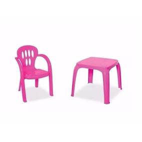 Mesa Infantil Atividades C/ 1 Cadeira Para Crianças Brincar