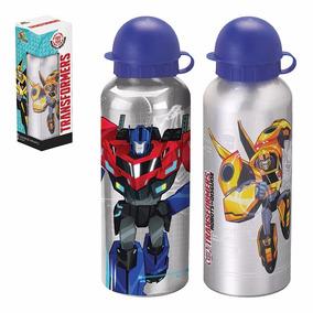 Garrafa De Alumínio Squeeze Infantil Transformers - 500 Ml