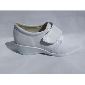 Zapatos Blancos Para Doctor O Enfermera De Piel Modelo 817