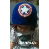 Gorro Capitán América A Crochet