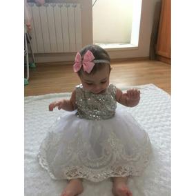 Elegante Vestido Para Bebé Princesa 12m Bautizo Presentación