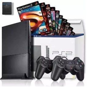 Playstation 2 + 2 Controles +1 Memory Card + 3 Jogos Brindes