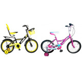 Bicicleta Para Niño Niña Aro 16 Ruedas Posteriores Nuevas