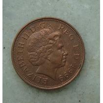 1523 Inglaterra Elizabeth 1999 Two Pence 26mm - Bronze Aço