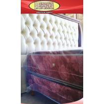 Somier Y Colchon 1 Y 1/2 Plaza Resorte Matelaseado C.pillow