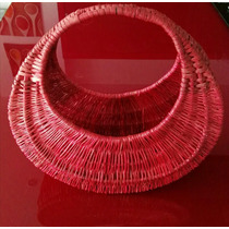 Bolsa Circular Tejida Exclusivo Diseño