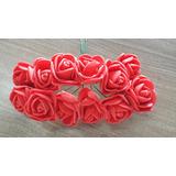 Flor Em Eva C/24 Unidades Vermelho