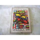 Venezuela En America (catalogo De Estampillas 1974)