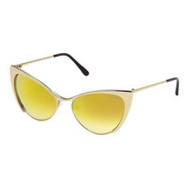 Oculos Feminino Tom Ford Nastasya Tf0304 28g Gold Mirror