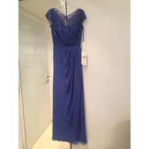Vestido Azul - Casamiento - Europeo (madrina De Boda)